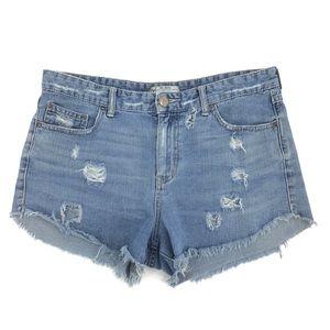 Free People Distressed Denim Cutoff Shorts